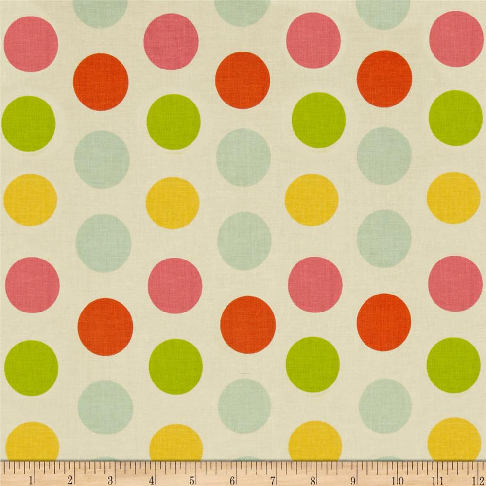 Riley Blake Large Dot Cream/Multi