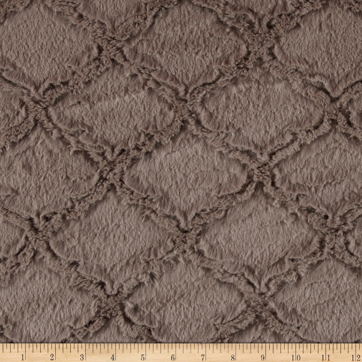 Shannon Minky Soft Lattice Cuddle Oyster Fabric by Shannon in USA