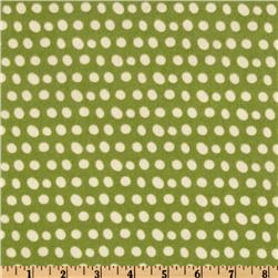 Pretty Paisley Flannel Dots Pear Green