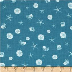 Moda Coastal Breeze Shoreline Treasures Aqua