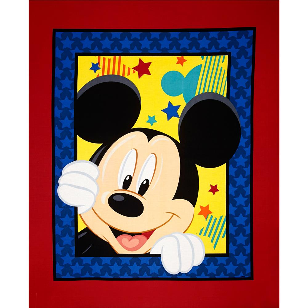 Disney Mickey Mouse Out to Play Panel Red/Blue