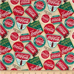 Coca-Cola Vintage Signs Tan