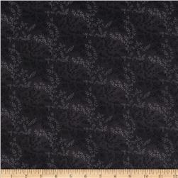 "108"" Wide Quilt Back Tonal Vineyard Black"