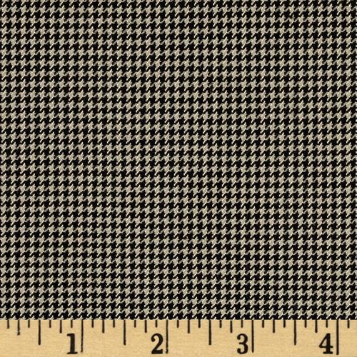 Yarn Dyed Houndstooth Ivory/Black