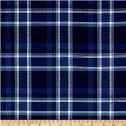 Robert Kaufman Indigo Plaid Shirting Royal