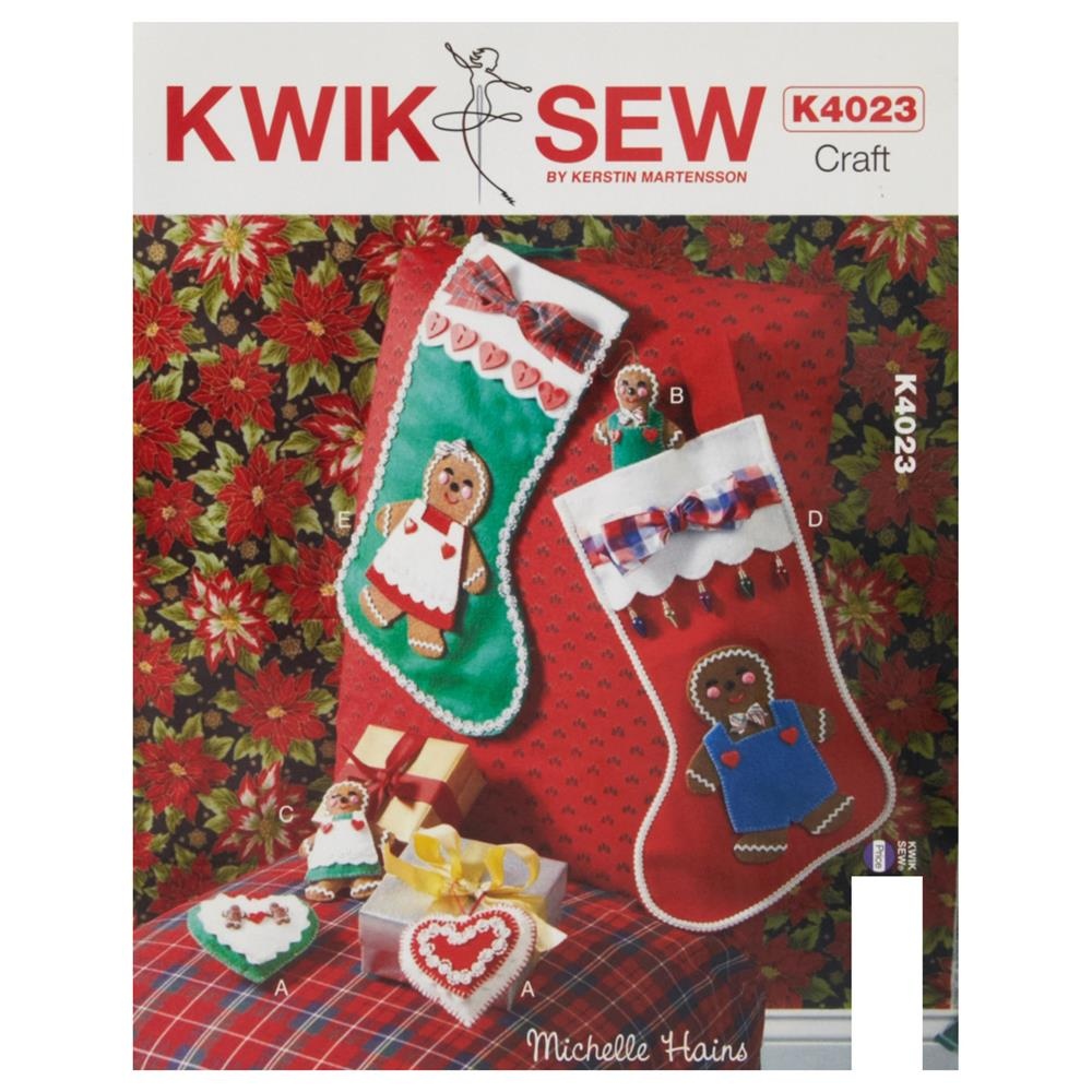 Kwik Sew Craft Ornaments and Stockings Pattern