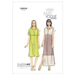 Vogue Misses' Dress Pattern V8806 Size A50