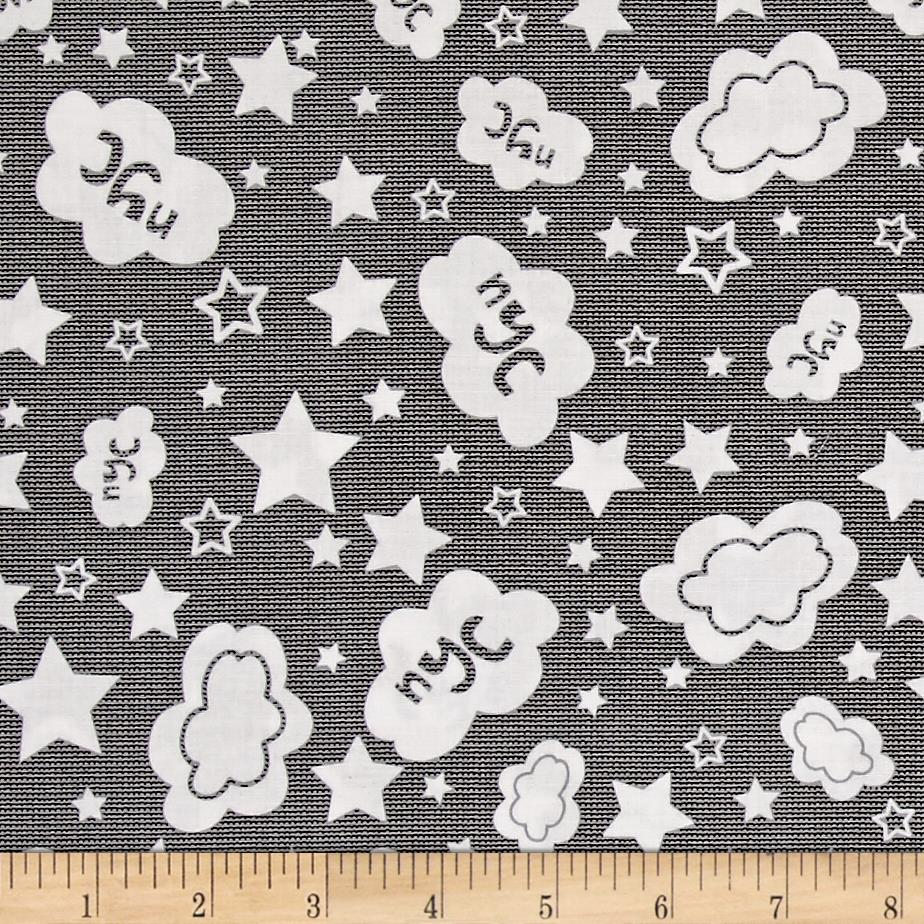 Kanvas The Big Apple NYC Sky Black White Discount Designer Fabric