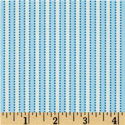 Boy's Circa 1930's Dotted Stripe Blue