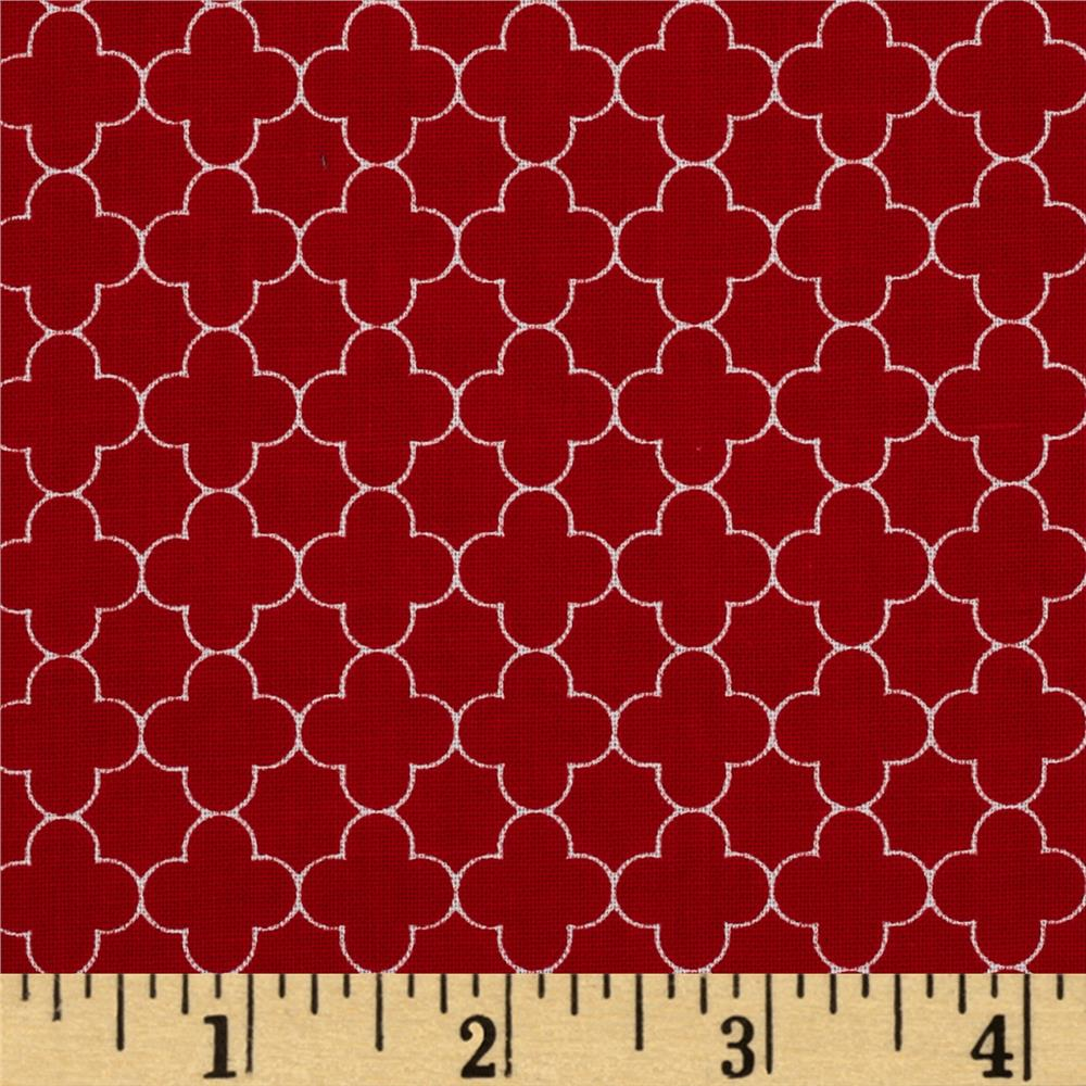 Riley Blake Mini Quatrefoil Red