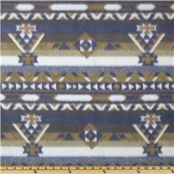 Fleece Prints Aztec Blue/Green