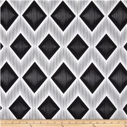 Ponte de Roma Large Diamonds Abstract Black/White Fabric