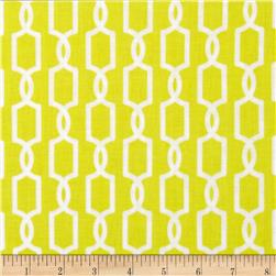 Michael Miller Pastel Pop Citron Grey Trelliage Citron