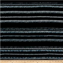 Rayon Challis Stripes Blue/White