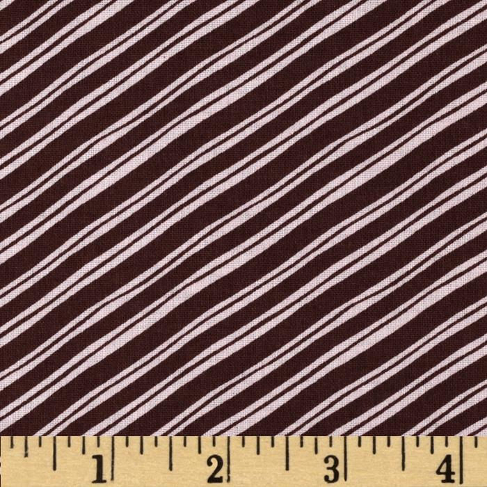 Sugar Rush Candy Cane Stripe Brown