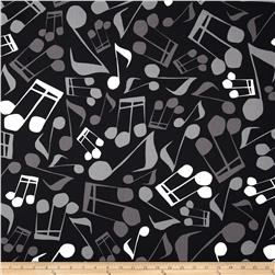 Jazz Jam Large Music Note Black