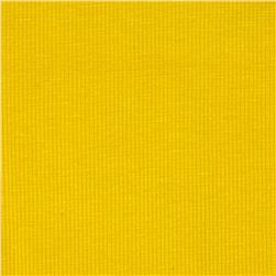 Stretch Rayon Rib Knit Bright Yellow