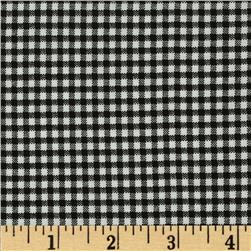 Basic Training Small Gingham Black/White Fabric