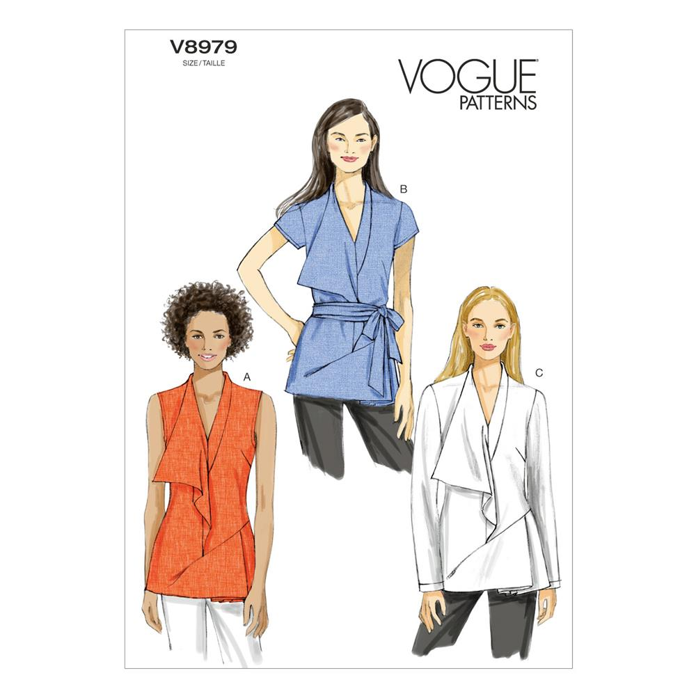 Vogue Misses' Tunic and Belt Pattern V8979 Size A50