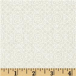 Whisper Print Geo Design Tonal Ivory Fabric