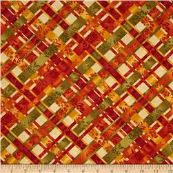 Autumn Elegance Plaid Maize