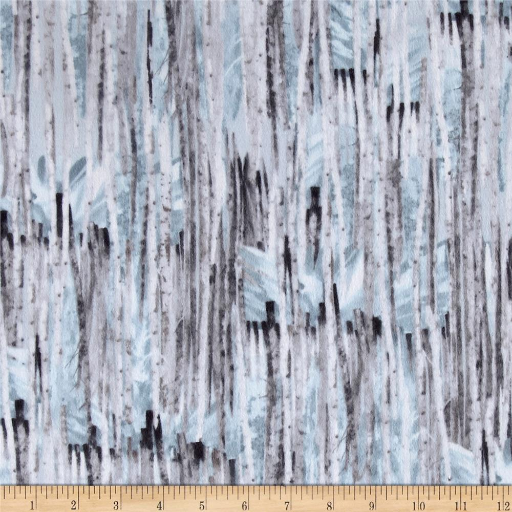 Kanvas Into the Woods Flannel Winter Birch Blue Mist