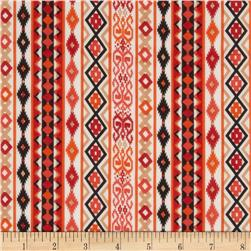 Chiffon Native Stripe Orange/Beige/Tan/Black