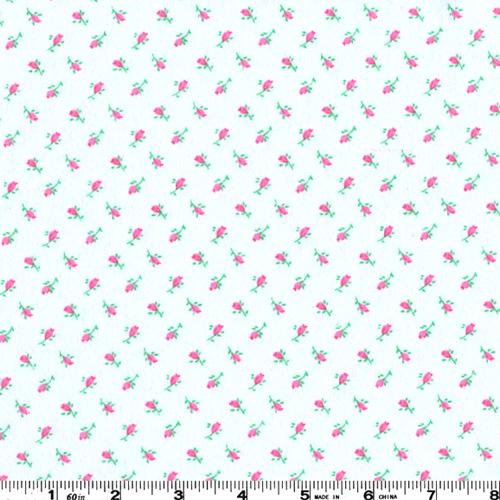 Flannel Roses Pink Fabric