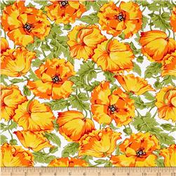 Poppy Patio Large Floral Orange