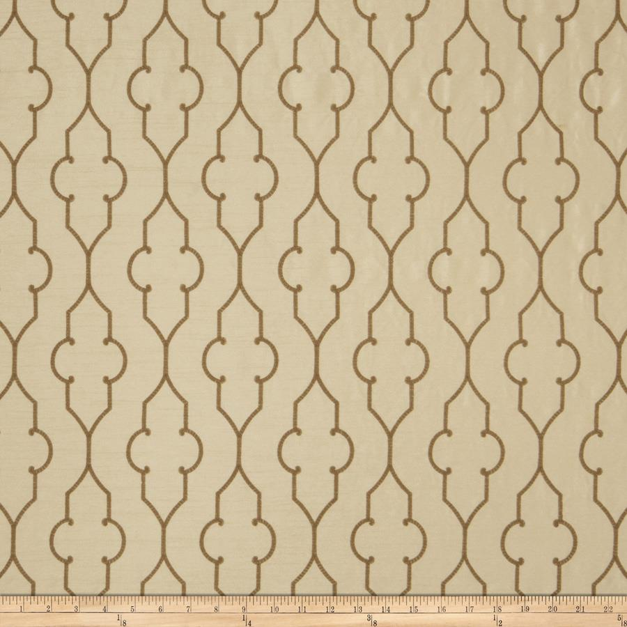Fabricut Faux Dupioni Silk Akers Lattice Camel
