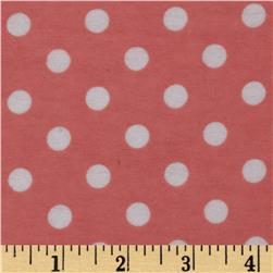 Dreamland Flannel Happy Dots Coral Blossom