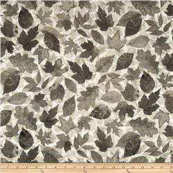 Stonehenge Hidden Valley Flannel Leaves Taupe Grey