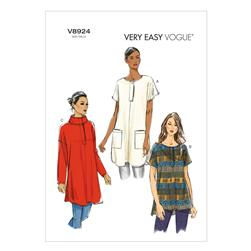 Vogue Misses' Tunic Pattern V8924 Size 0Y0