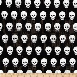 Riley Blake Geekly Chic Skulls Black