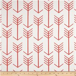 Premier Prints Arrow Twill White/Coral