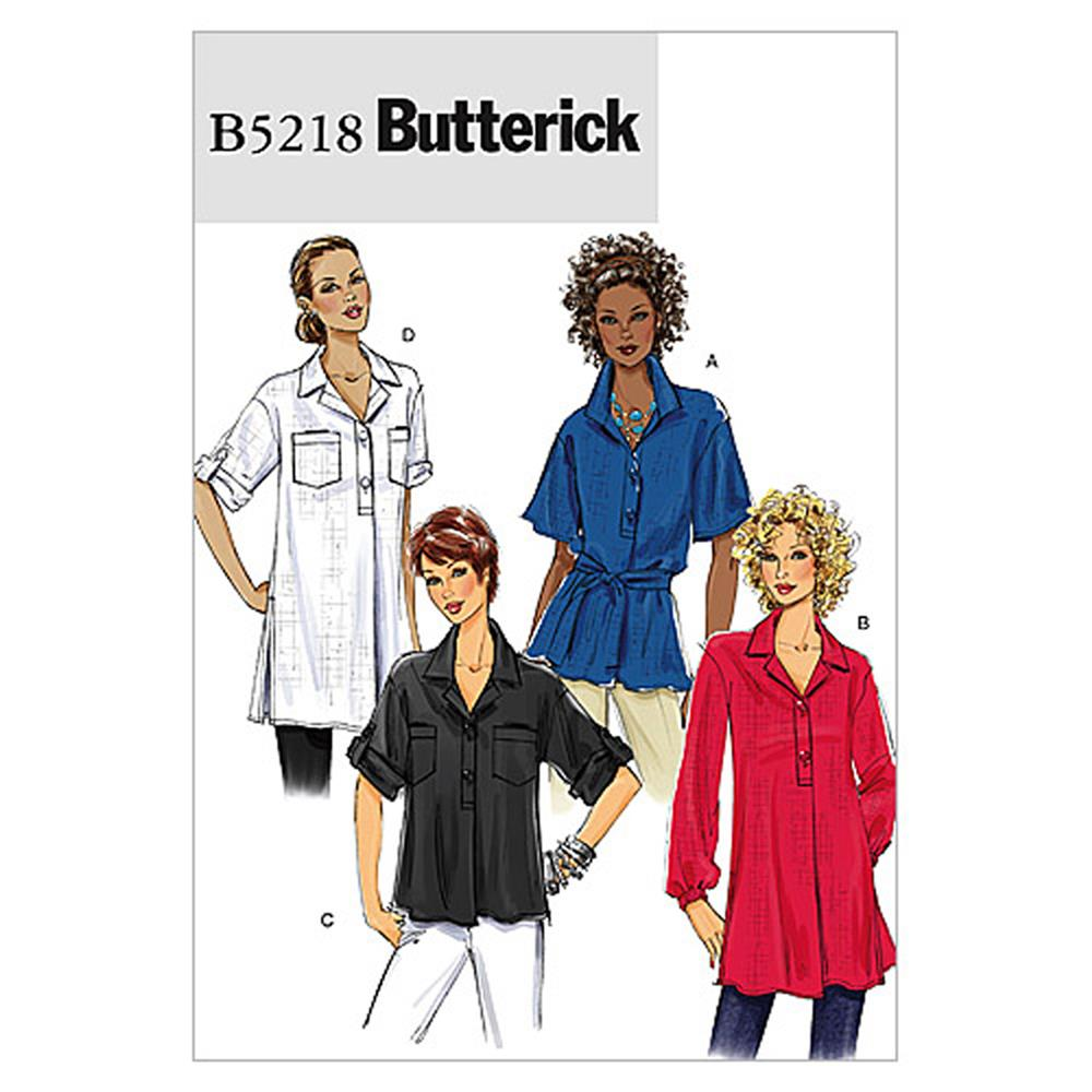 Butterick Misses' Top and Tunic Pattern B5218 Size BB0