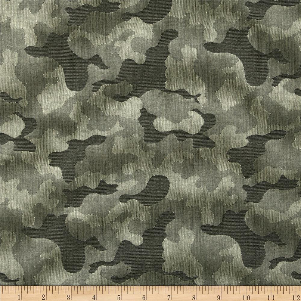 Kaufman Camouflage Jacquard Jungle