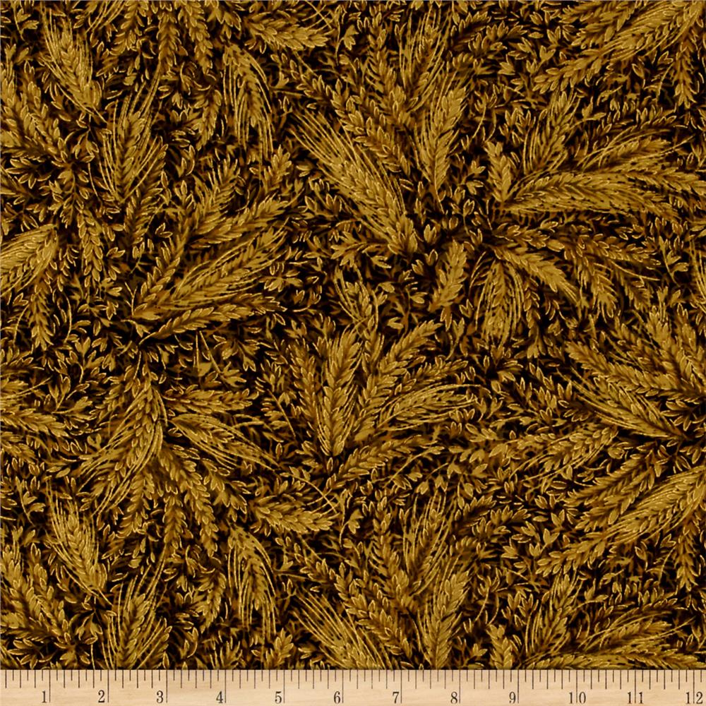 Moda Autumn Elegance Metallic Wheat Olive