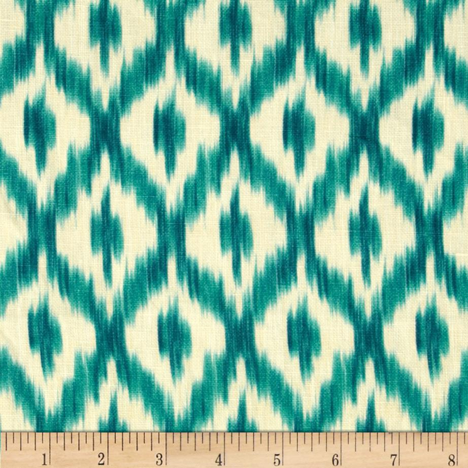 Waverly Williamsburg Dedra Ikat Peacock