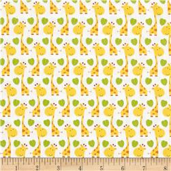 Timeless Treasures Peek-A-Zoo Giraffes Yellow