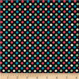 Lecien Spicy Scrap Multi Dot Black