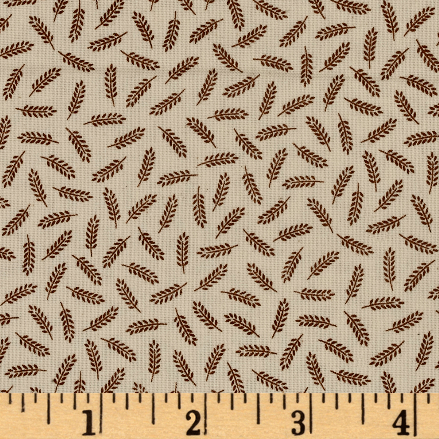 Little House on the Prairie Tossed Wheat Brown Fabric by Andover & Makower in USA