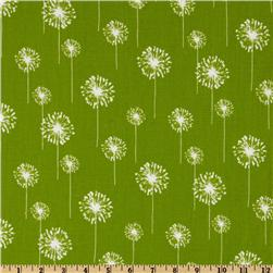 Premier Prints Small Dandelion Chartreuse/White Fabric