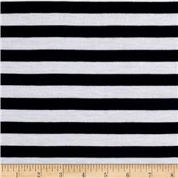 Lightweight Jersey Knit Stripe Navy/White