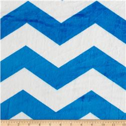 Minky Chevron Blue/White Fabric