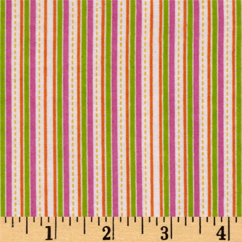 Alpine Flannel Stripe Multi Girl Fabric