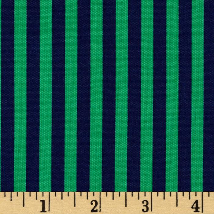 Michael Miller Stripes Clown Stripe Turf Navy