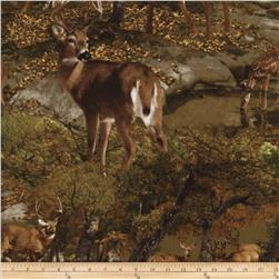 Timeless Treasures Into the Wild Deer Brown