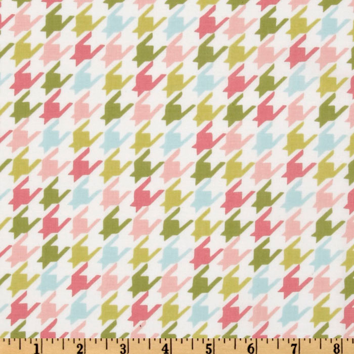 Michael Miller Bella Butterfly Happy Houndstooth Multi Fabric