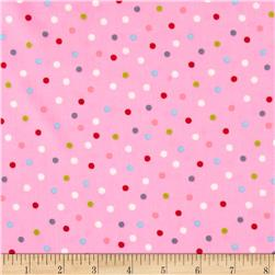 Garden Party Dots Pink Fabric